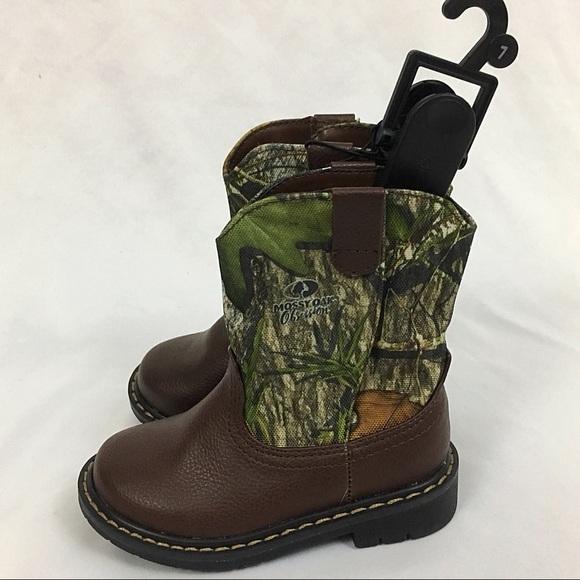 Garanimals Mossy Oak Infant /& Toddler Boys Green Camo Western Cowboy Boots